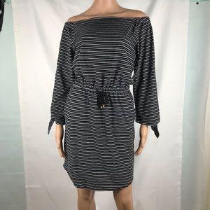 NWT Lauren Ralph Lauren Off Shoulder Striped Dress